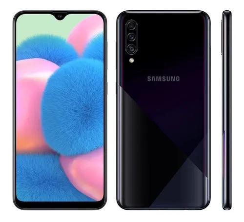 Smartphone samsung galaxy a30s preto 64gb com tv digital