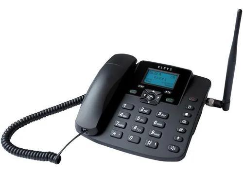 Telefone celular de mesa dual chip gsm elsys epfs12 preto