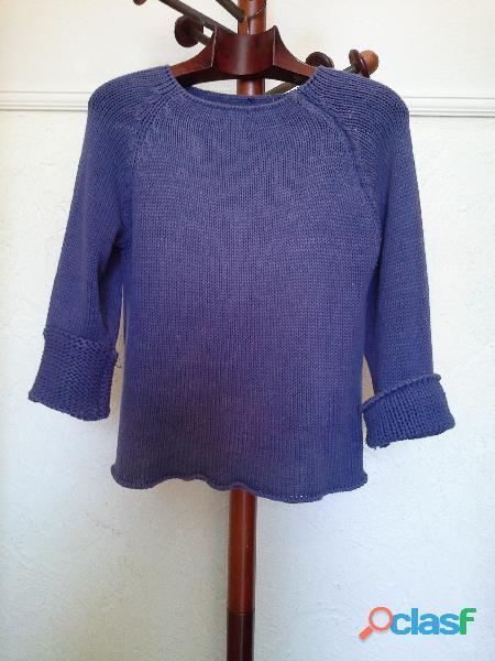 Blusa de tricot roxo violeta