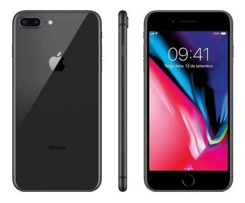 Iphone 8 plus 64gb cinza espacial vitrine