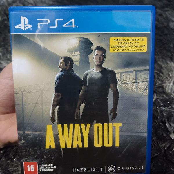 Jogo a way out ps4 - mídia física
