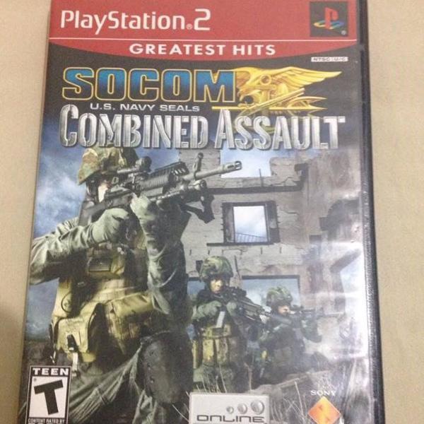 Socom combined assault playstation 2 midia fisica completa