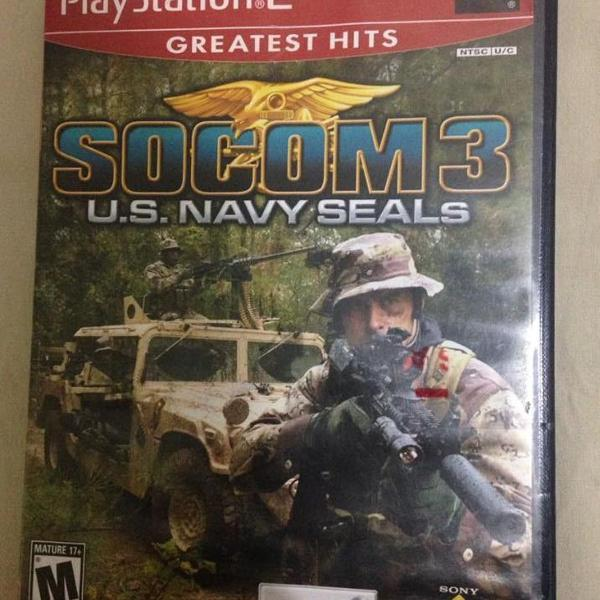 Socom navy seals playstation 2 midia física gratest hits