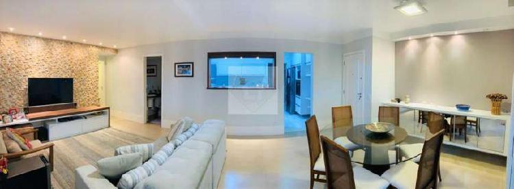 Apartamento a venda possui 135 metros quadrados com 3 suites