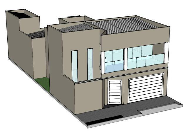 Barretossp - jd. europa / casa em fase de acabamento
