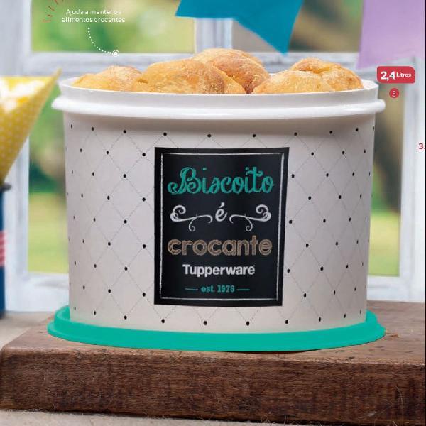 Tupperware redondinha para biscoito