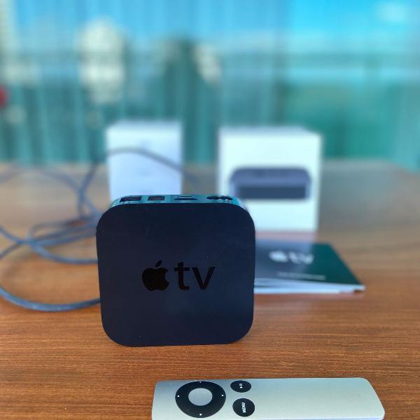Apple tv 3 geração - full hd 1080p - nunca usado