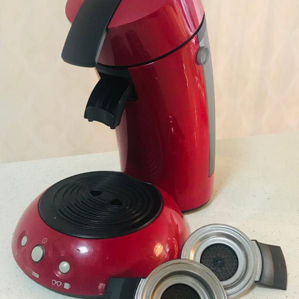 Cafeteira senseo philips vermelha automática