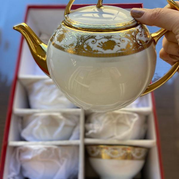 Jogo de chá de porcelana estilo japonês
