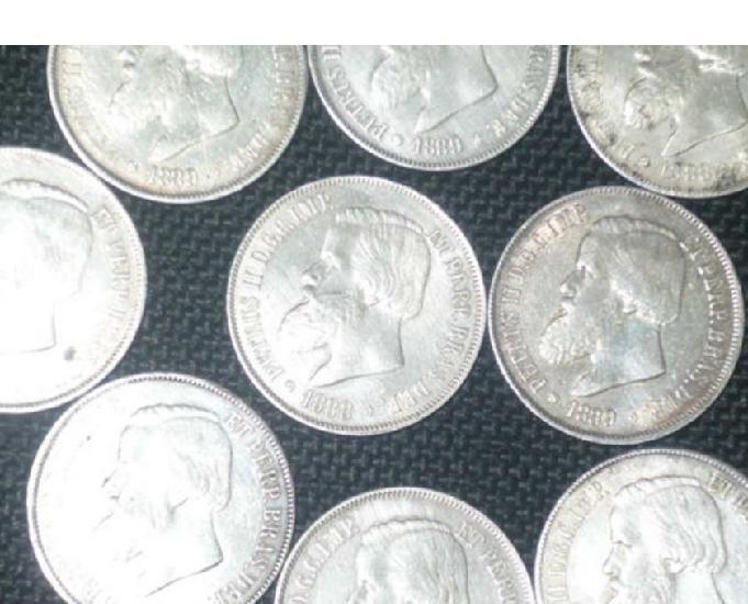 Compro moedas antigas só réis antes de 1900 pago r$10 cada