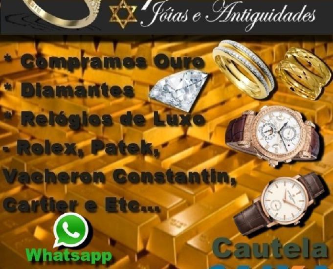 Compro ouro, prata, platina, diamantes, relógios de luxo