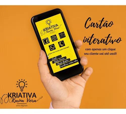 Criação de cartão de visitas interativo - produto digital