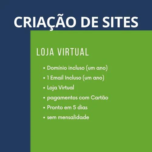 Criação de site com loja virtual dominio e