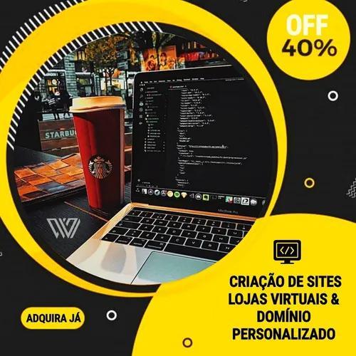 Criação de sites, lojas virtuais, logotipo e campanhas ads