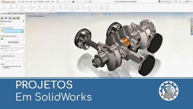 Desenvolvimento de projetos cad 2d 3d solidworks,