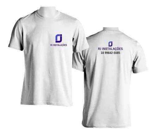 Estamparia de camisetas personalizadas (com sua logomarca)