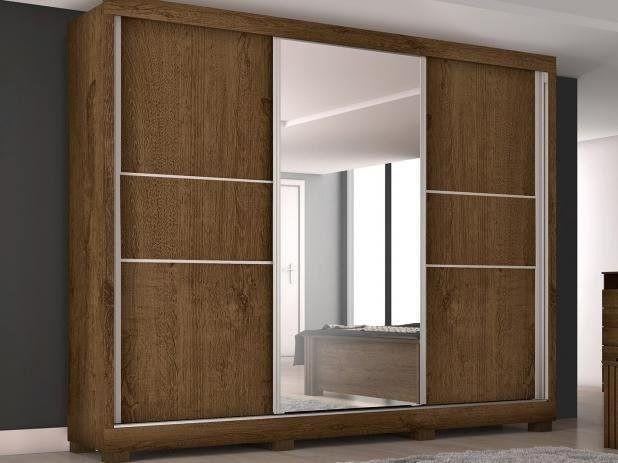 Guarda-roupa casal com espelho 3 portas de correr - 3