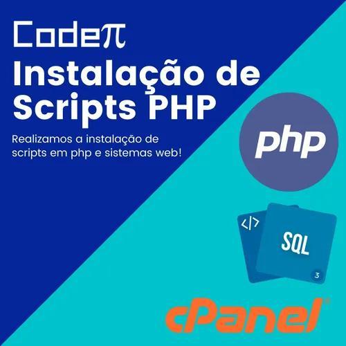 Instalação de scripts php e websites