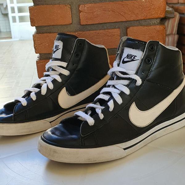 Nike cano alto azul
