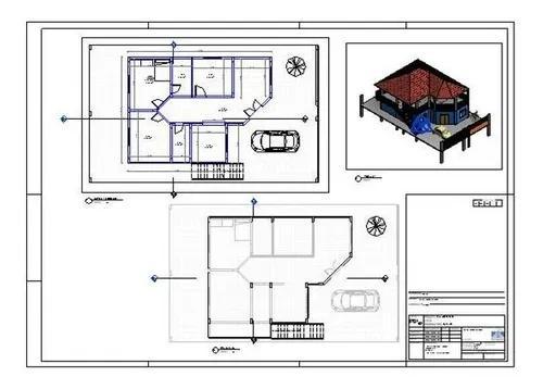Planta arquitetônica casa térro