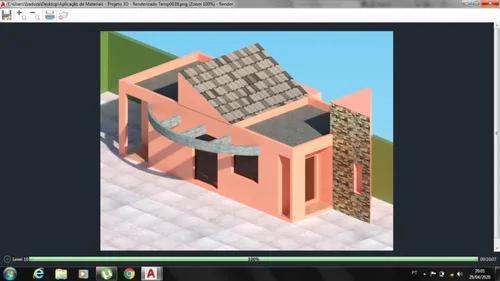 Projetos - planta baixa - 3d