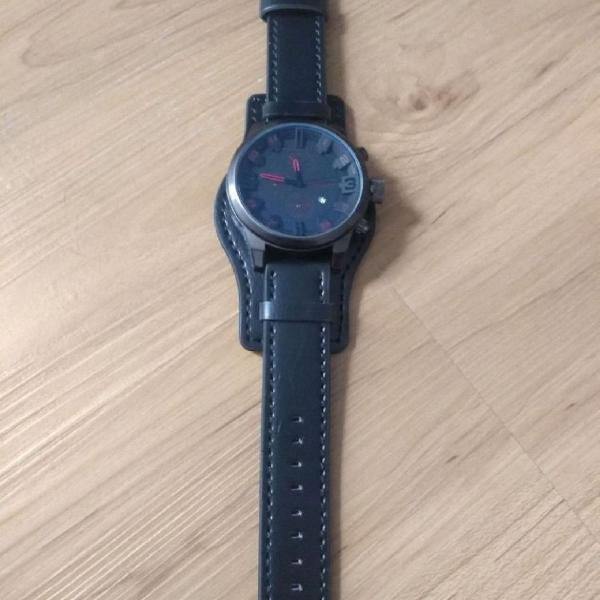 Relógio masculino diesel pulseira de couro removível .