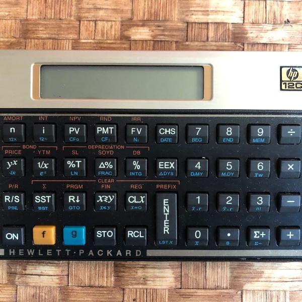 calculadora hp 12c com case
