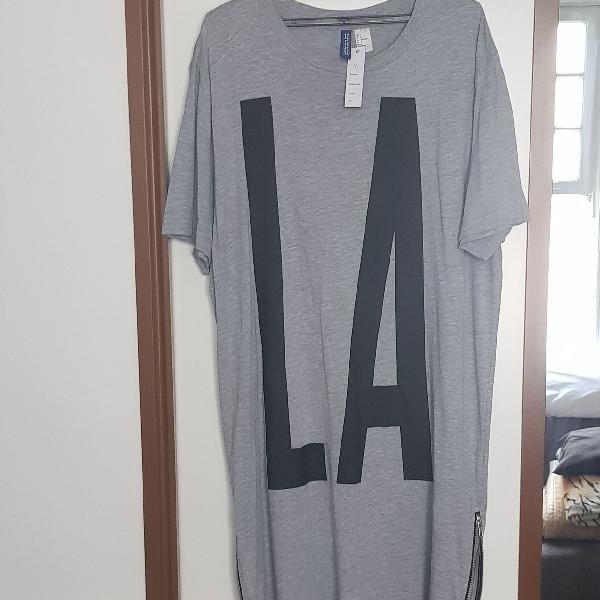 Camisa long line importada divided -los angeles masculina