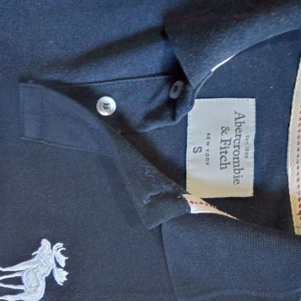 Camisa polo abercrombie azul marinho