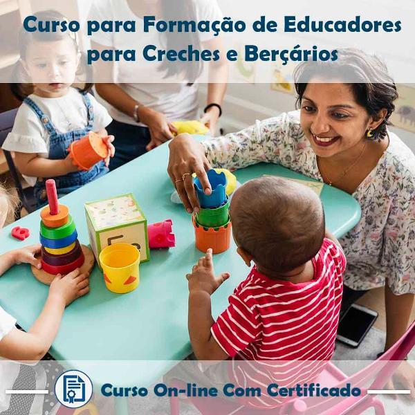 Curso online de formação de educadores para creches e