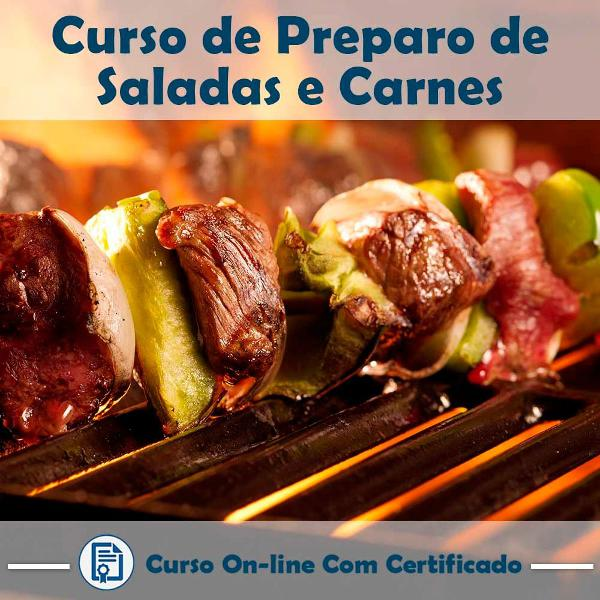 Curso online de preparo de saladas e carnes para o churrasco