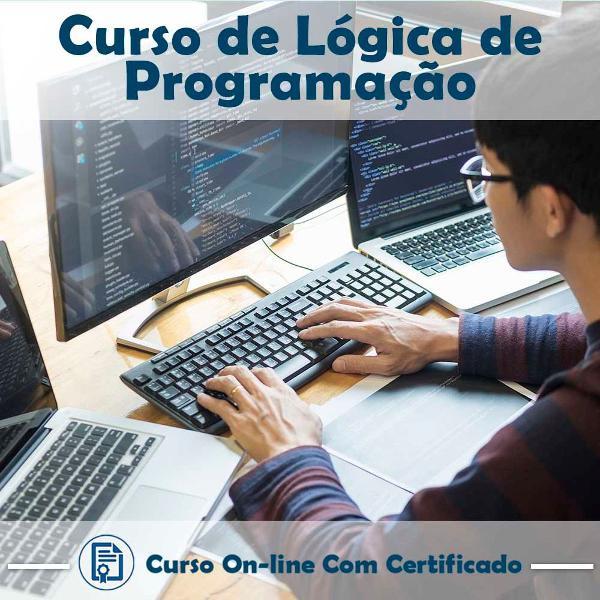Curso online em videoaula de lógica de programação com