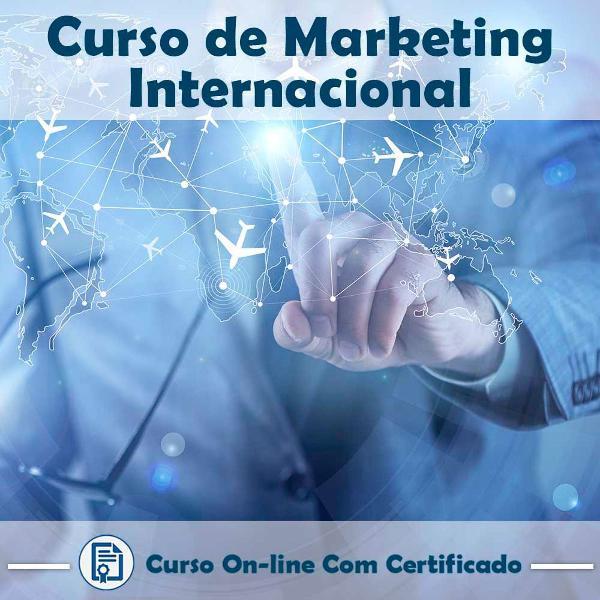 Curso online em videoaula sobre marketing internacional com