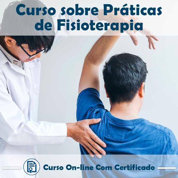 Curso online em videoaula sobre práticas de fisioterapia