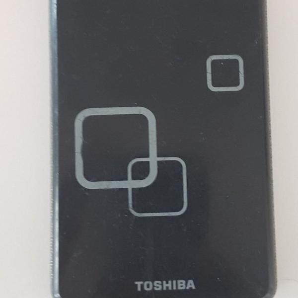 Hd externo portátil ultraslim toshiba 500gb e cabo usb
