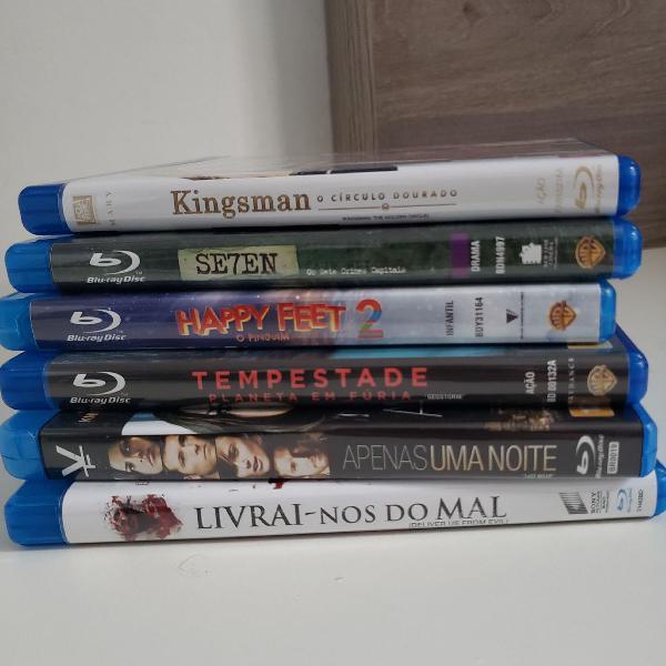 Kit 6 filmes em blu ray - ótimo estado
