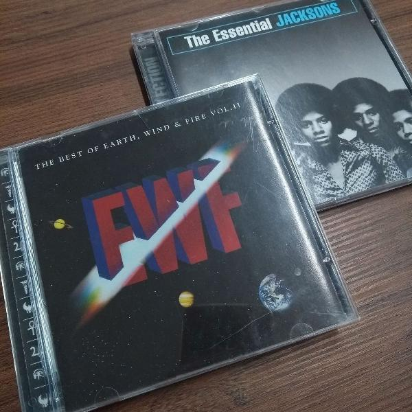 Kit cds the essential jacksons + the best of earth, wind and