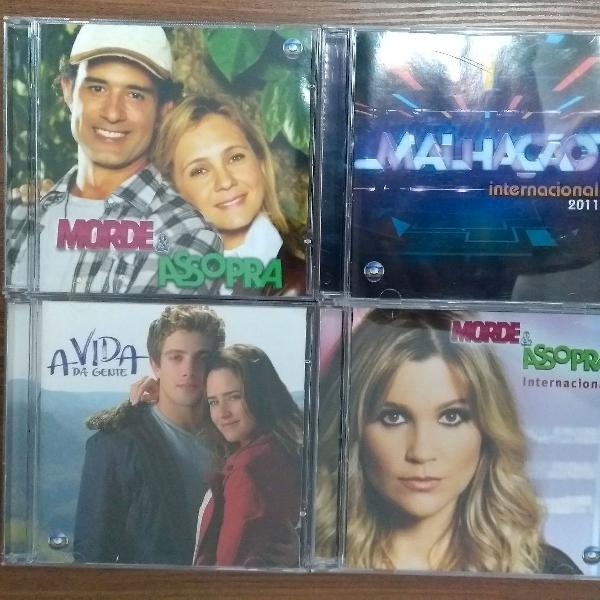 Kit cds novelas (morde e assopra internacional e nacional +
