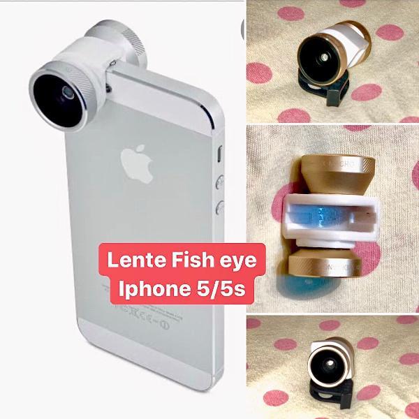 Lente fish eye para iphone
