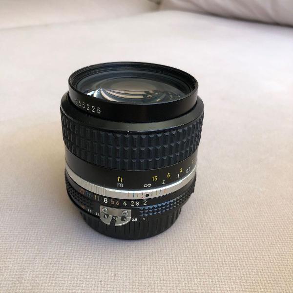 Lente nikon manual nikkor 35mm f/2