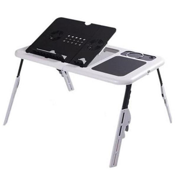 Mesa para notebook suporte home office cooler base cama sofa