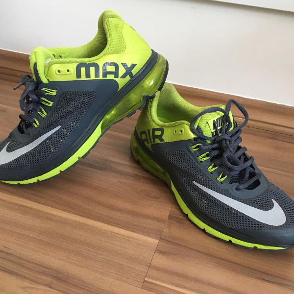 Tenis nike max air excellerate 2 verde e cinza