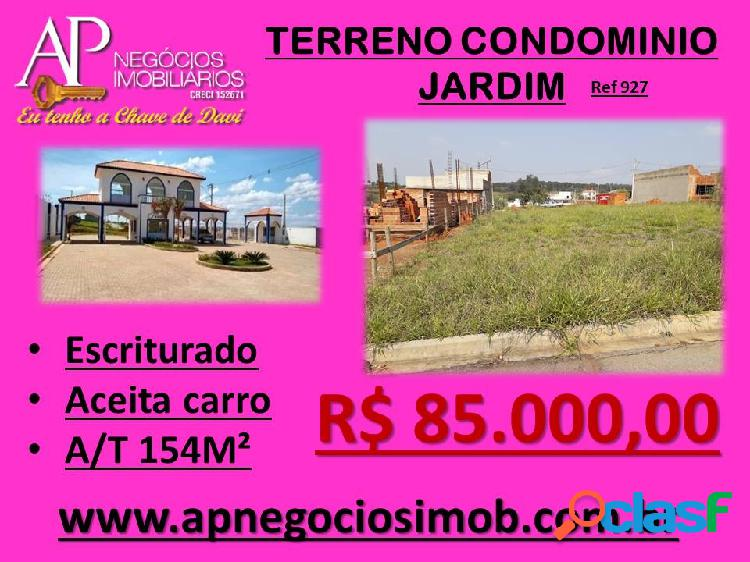 Terreno condominio residencial jardim