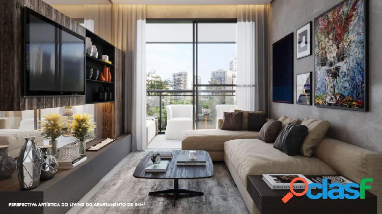 Vende apartamento de 65m² com 3 quartos e 2 vagas em moema -sp