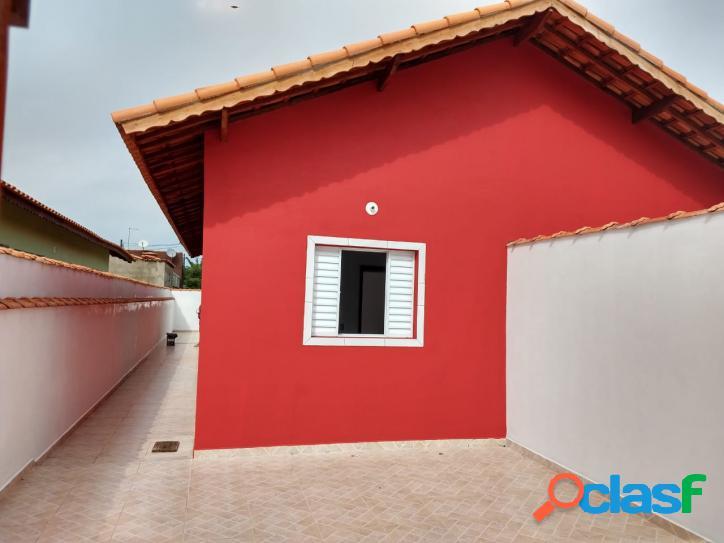 Casa nova 2 dorms com suíte - suarão - itanhaem