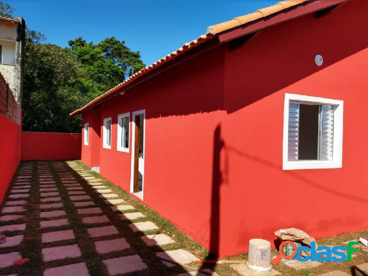 Casas novas 2 dorms lado praia - parc. direto r$58 mil entrada