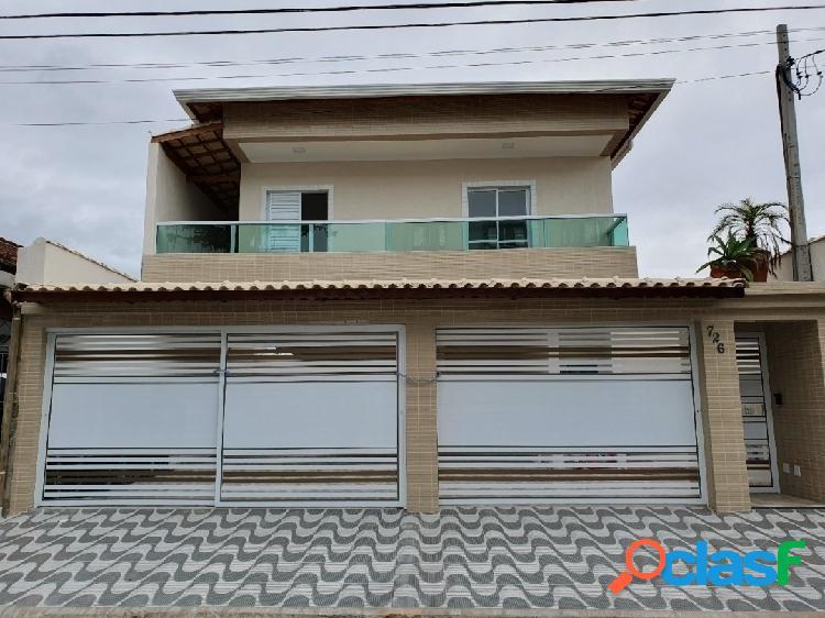 Casa nova em condomínio com 2 dorms na vila caiçara -pg ultima unidade