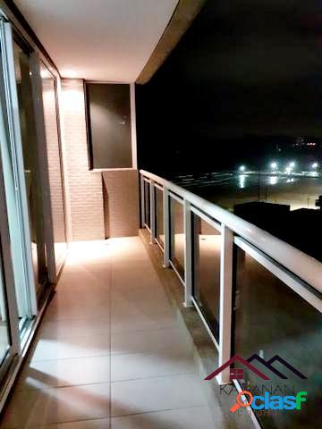 Apartamento studio vista mar - ed. unlimited ocean front - santos