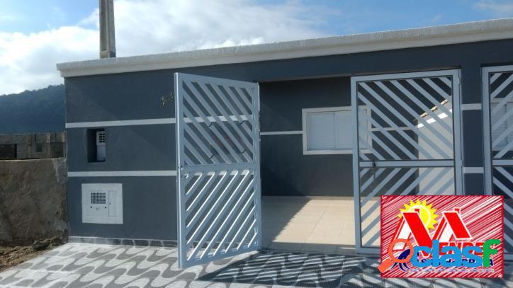 Casa nova 2 dormitórios em mongaguá na mendes casas de praia