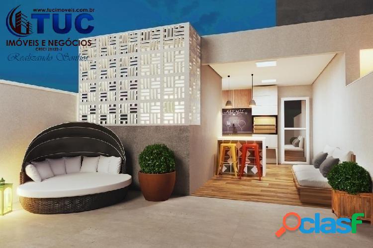 Cobertura s/condomínio c/2 dorms 1vg com quintal privativo em santo andré